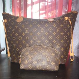 Authentic Louis Vuitton Neverfull MM size Set